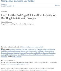 Don't Let the Bed Bugs Bill: Landlord Liability for Bed Bug Infestations in Georgia