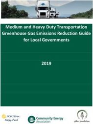 Medium and Heavy Duty Transportation Greenhouse Gas Emissions Reduction Guide for Local Governments