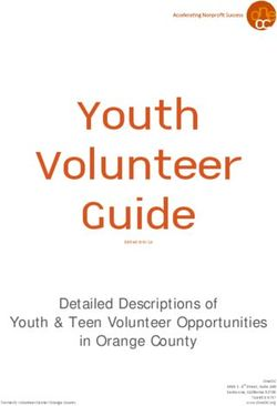 Youth Volunteer Guide - Detailed Descriptions of