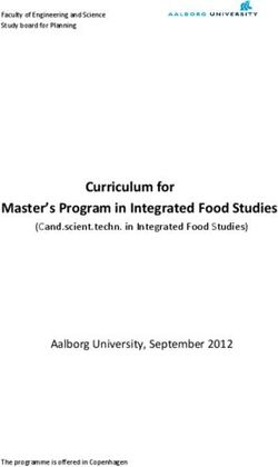 Curriculum for Master's Program in Integrated Food Studies