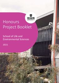 Honours Project Booklet - School of Life and Environmental Sciences 2021 - ...