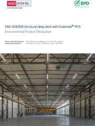 SAB 135R/930 structural deep deck with Colorcoat PE15 Environmental Product ...