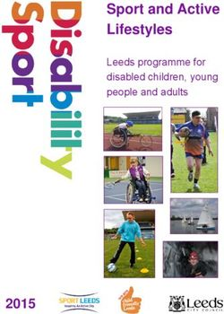 Sport and Active Lifestyles 2015 Leeds programme for disabled children, young people and adults