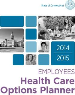 Health Care Options Planner EMPLOYEES