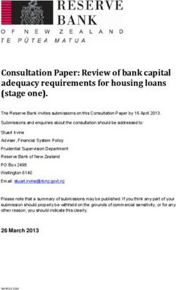 Consultation Paper: Review of bank capital adequacy requirements for housing loans (stage one).