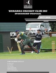 WERAROA CRICKET CLUB INC - SPONSORSHIP PROPOSAL