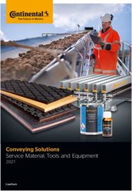 Conveying Solutions Service Material, Tools and Equipment 2021