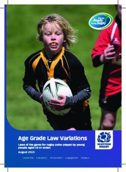 Age Grade Law Variations - Scottish Rugby Union