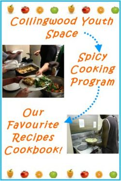 Collingwood Youth Space Spicy Cooking Program Our Favourite Recipes Cookbook!