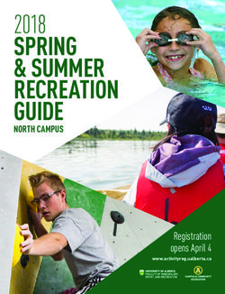 SPRING & SUMMER RECREATION GUIDE 2018