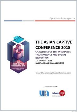 THE ASIAN CAPTIVE CONFERENCE 2018 - CHALLENGES OF SELF-INSURANCE: TRANSPARENCY AND DIGITAL DISRUPTION 1 - 2 AUGUST 2018 SASANA KIJANG KUALA LUMPUR