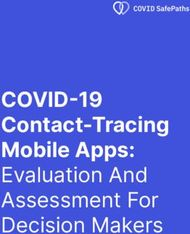 COVID-19 Contact-Tracing Mobile Apps: Evaluation And Assessment For Decision ...