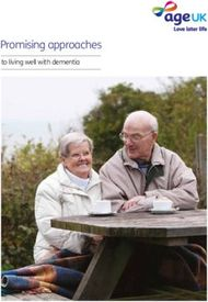 Promising approaches - to living well with dementia