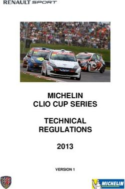 MICHELIN CLIO CUP SERIES TECHNICAL REGULATIONS 2013