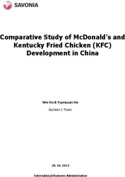 COMPARATIVE STUDY OF MCDONALD'S AND KENTUCKY FRIED CHICKEN