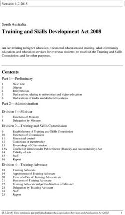 Training and Skills Development Act 2008