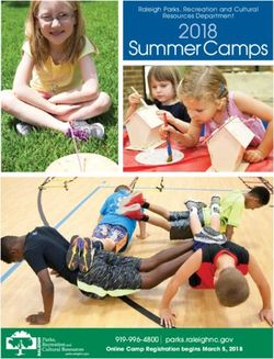 2018 Summer Camps - City of Raleigh