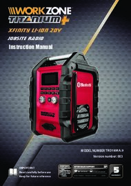 Instruction Manual - Xfinity Li-ION 20V JOBSITE Radio