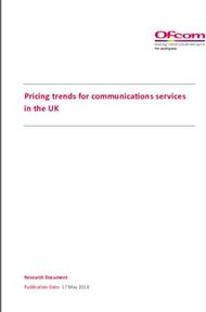 Pricing trends for communications services in the UK