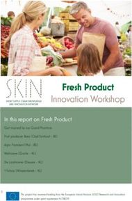 Fresh Product - Innovation Workshop