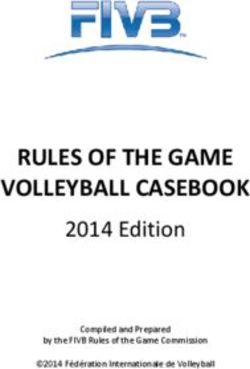 RULES OF THE GAME VOLLEYBALL CASEBOOK