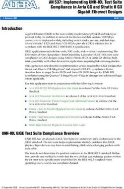 AN 537: Implementing UNH-IOL Test Suite Compliance in Arria GX and Stratix II GX Gigabit Ethernet Designs