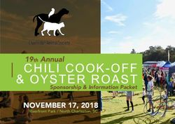 CHILI COOK-OFF & OYSTER ROAST - 19th Annual Sponsorship & Information Packet