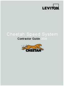 Cheetah Speed System - Contractor Guide 2009