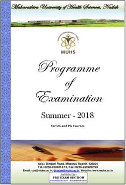 Programme Examination of - Summer 2018
