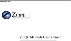 Z SQL Methods User's Guide February 4, 2000