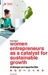Women entrepreneurs as a catalyst for sustainable growth - challenges and ...