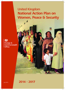 National Action Plan on Women, Peace & Security
