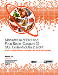 Manufacture of Pet Food Food Sector Category 32 SQF Code Modules 2 and 4