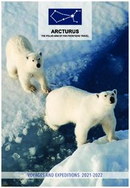 Voyages and expeditions 2021-2022 - Arcturus Expeditions