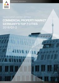 COMMERCIAL PROPERTY MARKET GERMANY'S TOP 7 CITIES