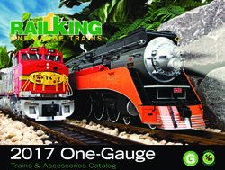 One-Gauge Trains & Accessories Catalog 2017