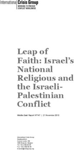 Leap of Faith: Israel's National Religious and the Israeli-Palestinian Conflict