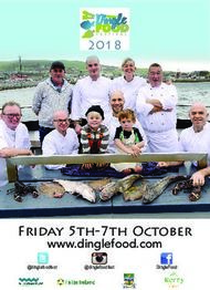 www.dinglefood.com Friday 5th-7th October 2018 - Dingle Food Festival
