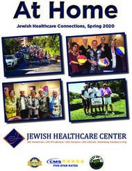 Jewish Healthcare Connections, Spring 2020