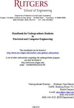 Handbook for Undergraduate Students Electrical and Computer Engineering in