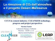 CCUS in cement industry: CLEANKER technology, progress and project ...