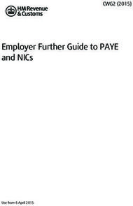 Employer Further Guide to PAYE and NICs