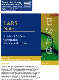 L&RS - Note - Article 41.2 of the Constitution: Women in the Home