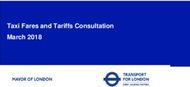 Taxi Fares and Tariffs Consultation March 2018
