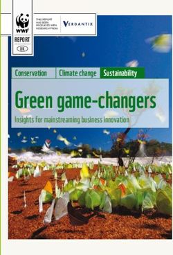 Green game-changers conservation climate change