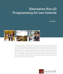 Alternative Non-JD Programming for Law Schools