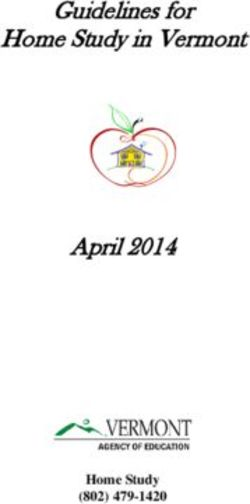 Guidelines for Home Study in Vermont April 2014