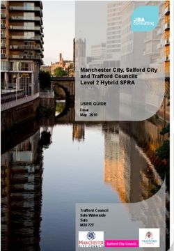 Manchester City, Salford City and Trafford Councils Level 2 Hybrid SFRA
