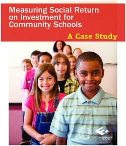 Measuring Social Return on Investment for Community Schools