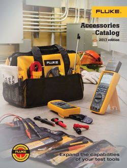 Fluke Accessories Catalog 2017 edition